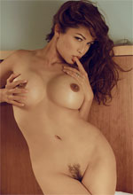 Alley Baggett - Naked Alley Baggett touches herself in bed