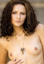 MC Nudes Andrea - Curly haired babe walks around outdoor showing off her stunning body