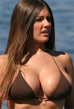 Lucy Pinder - Lucy Pinder and a friend naked on the beach