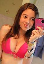 Kinky GFS - Busty Teen Takes Self pics on mobile